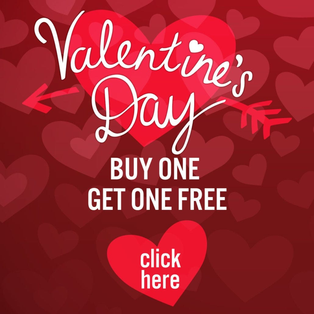 valentines day special buy on get one free